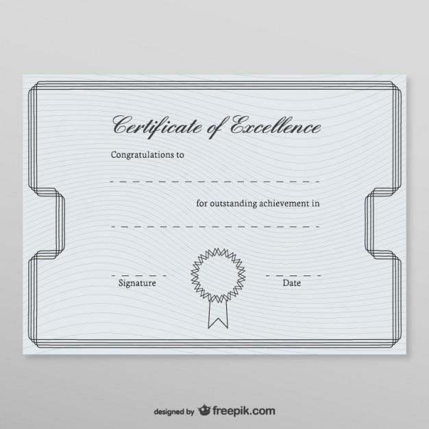 Plantilla de certificado honorífico | Descargar Vectores gratis