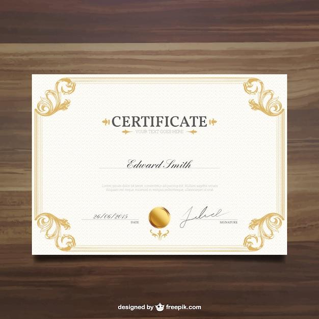 Plantilla de certificado ornamental | Descargar Vectores gratis