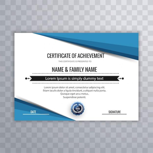 Plantilla de certificado para completar la graduación de logro ...