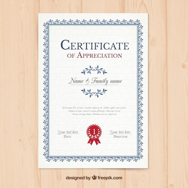 Plantilla de certificado vertical | Descargar Vectores gratis