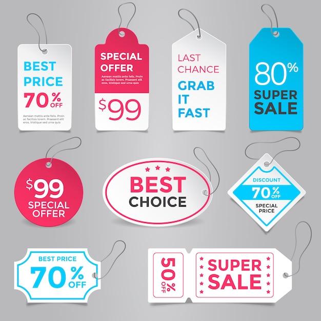 Plantilla de colección de etiquetas de precio | Descargar Vectores ...