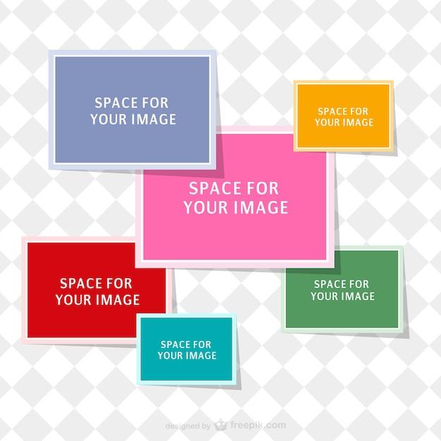 Plantilla de collage de colores | Descargar Vectores gratis
