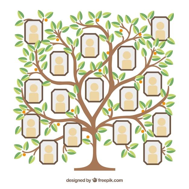 Plantilla de collage de fotos con árbol de diseño plano | Descargar ...