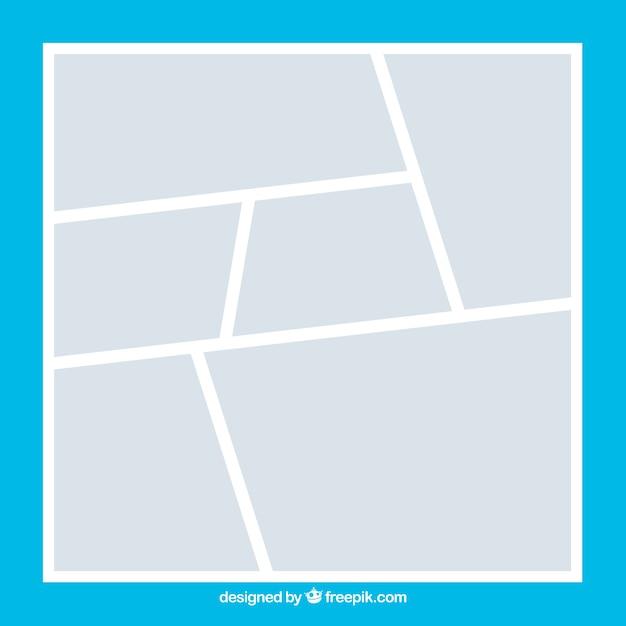 Plantilla de collage de marco de foto blanco | Descargar Vectores gratis