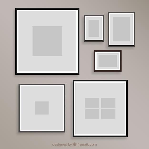 Plantilla de collage de marcos de fotos en diseño plano | Descargar ...