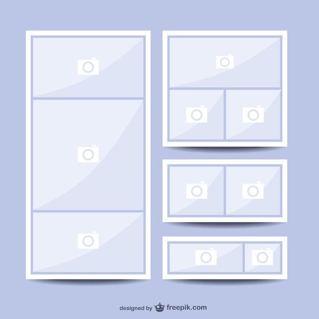 Plantilla de collage | Descargar Vectores gratis