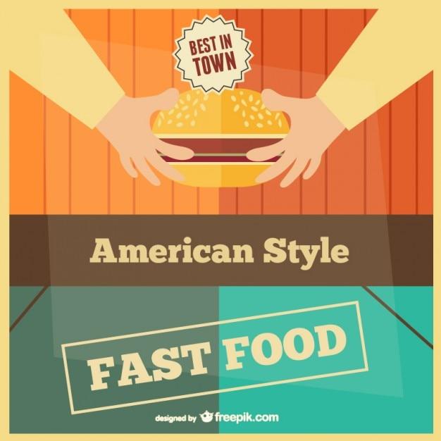 Plantilla de comida rápida | Descargar Vectores gratis