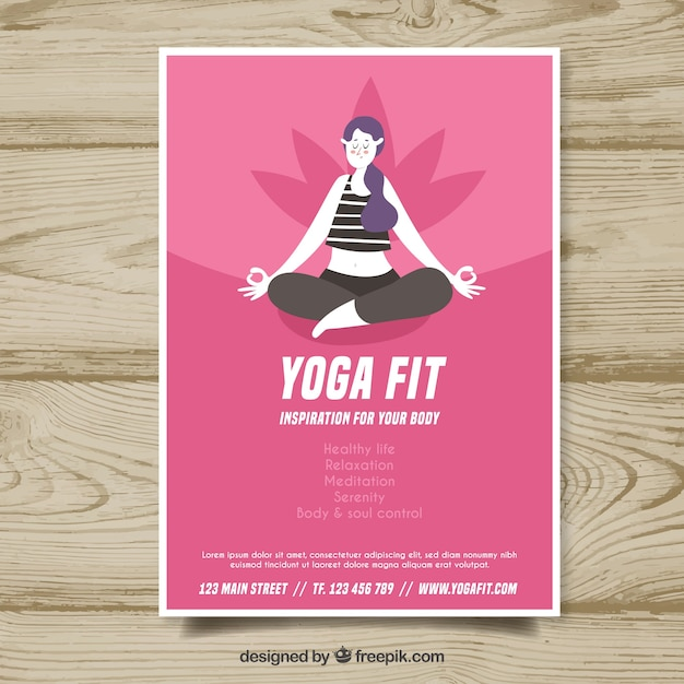 Plantilla de cover de yoga | Descargar Vectores gratis