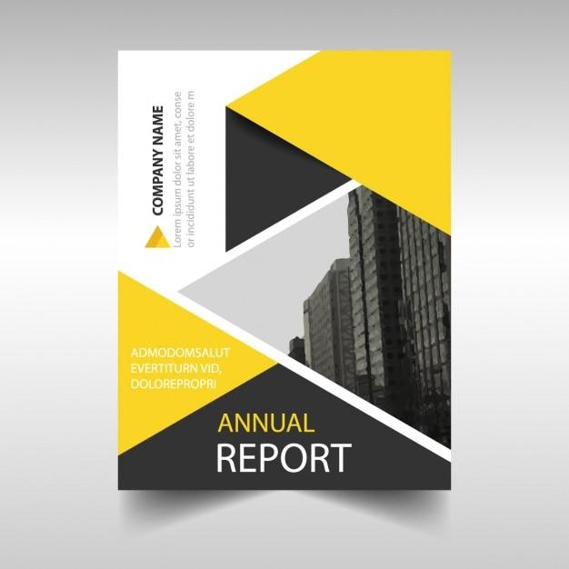 Best Business Book Cover Designs : Plantilla de cubierta geométrica amarilla y negra