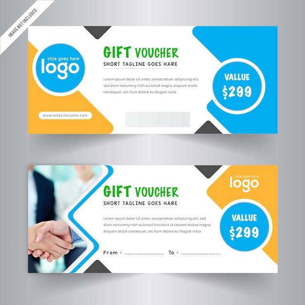 Plantilla de cupones de regalo | Descargar Vectores gratis