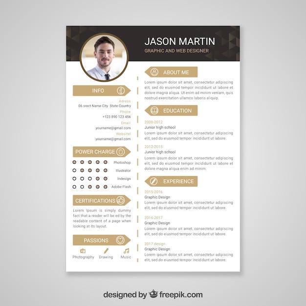 Plantilla de currículum vitae profesional | Descargar Vectores gratis
