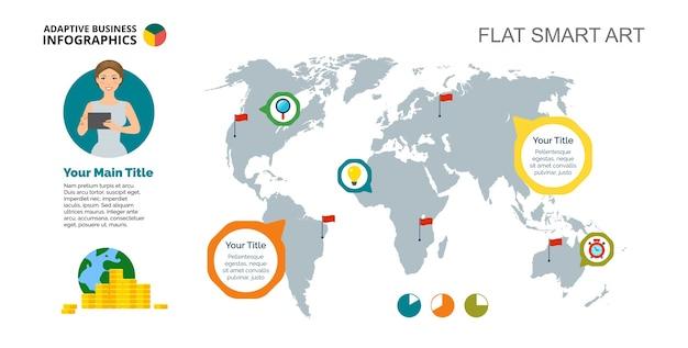 Plantilla de diapositiva de world wide company descargar vectores color gumiabroncs Gallery