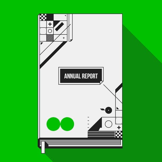 Plantilla de diseño de cubierta / impresión de libro con formas ...