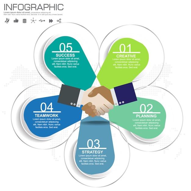 Plantilla de diseño de infografía con marco para el texto y la foto ...