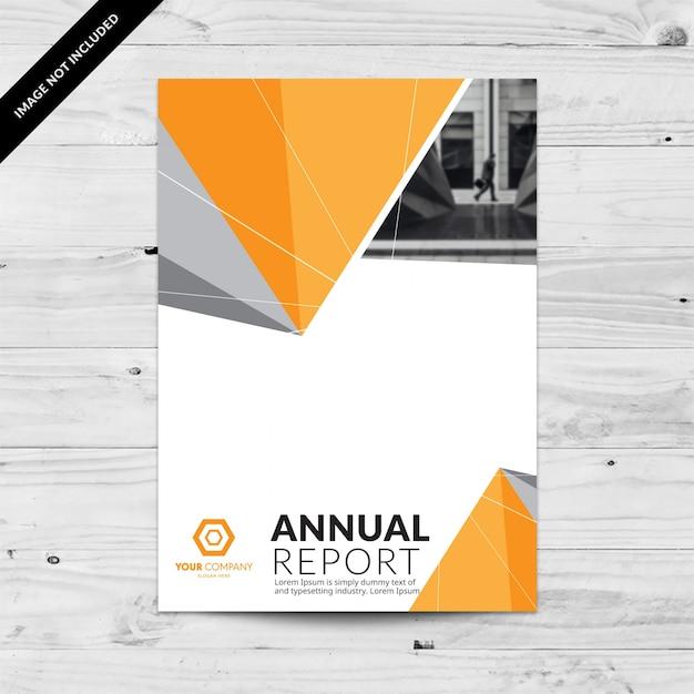 Plantilla de diseño de informe anual con triángulos grises y ...