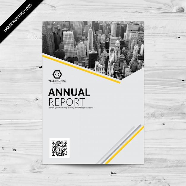 Plantilla de diseño de informe anual línea amarilla   Descargar ...