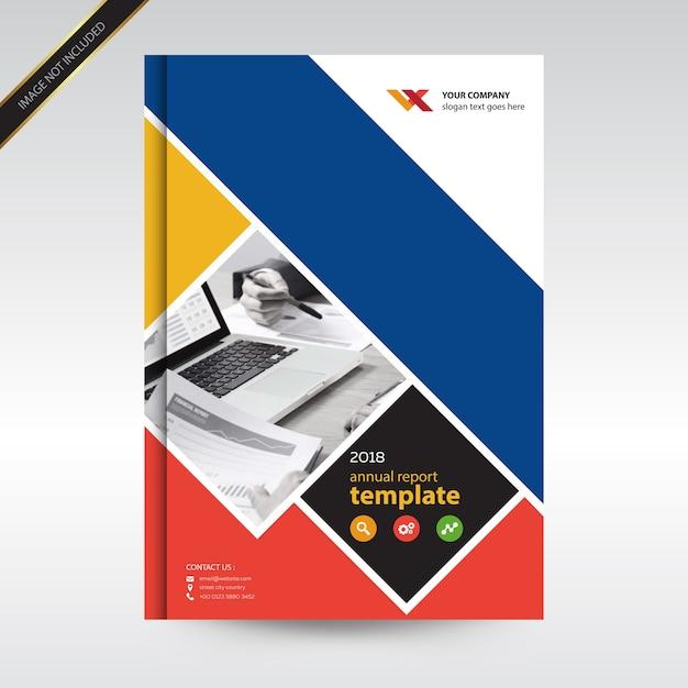 Plantilla de diseño de informe anual simplae y triángulo ...