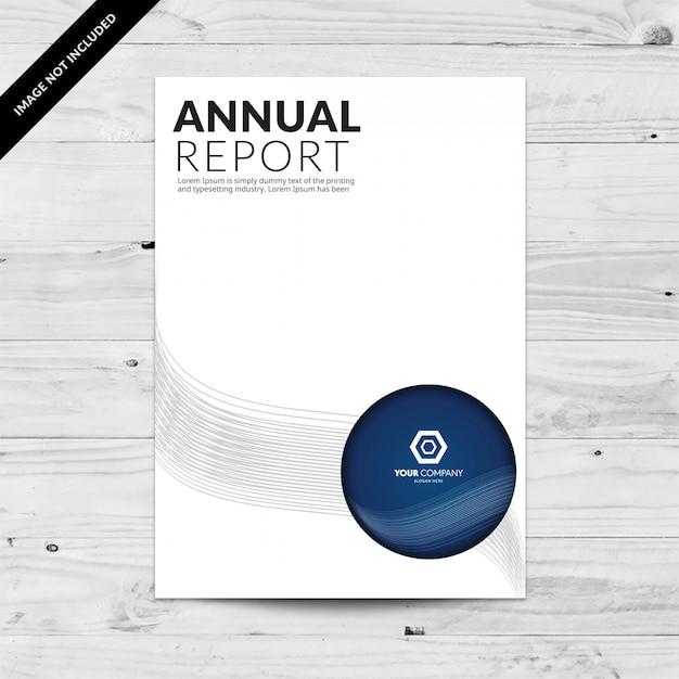 Plantilla de diseño de informes anuales con círculos azules y ...