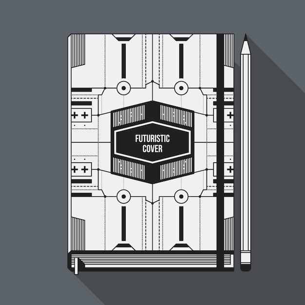 Plantilla de diseño de portada de libro. maqueta para portátil ...