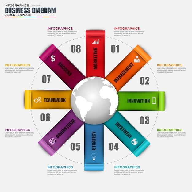 Plantilla de diseño de vector de diagrama circular de infografía ...