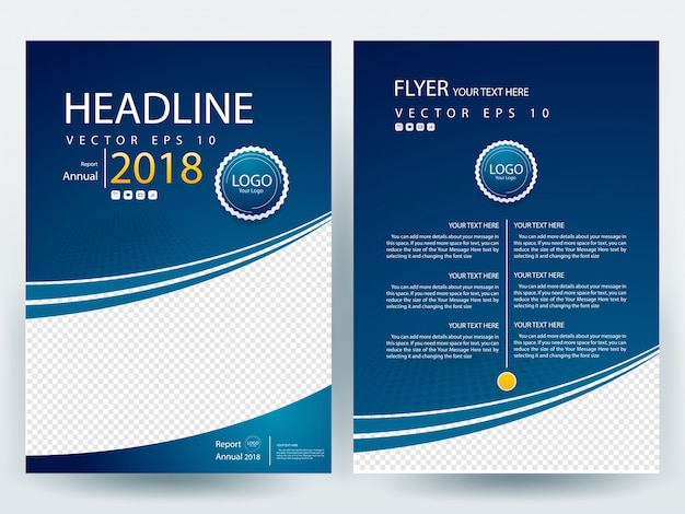 Plantilla de dise o del folleto a4 azul descargar for Brochure design templates cdr format free download