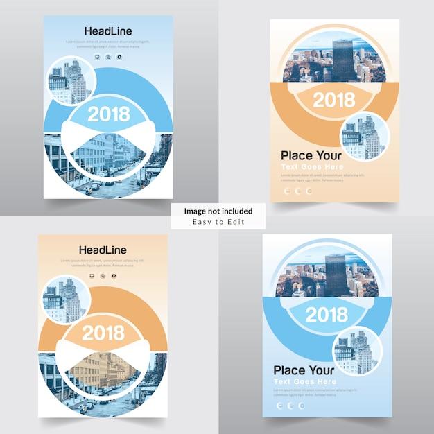Plantilla de diseño del informe anual de la cubierta del libro de ...