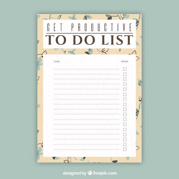 Plantilla de documento para escribir cosas que hacer | Descargar ...