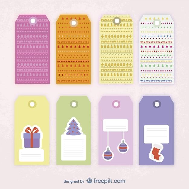 Plantilla de etiquetas de navidad | Descargar Vectores gratis