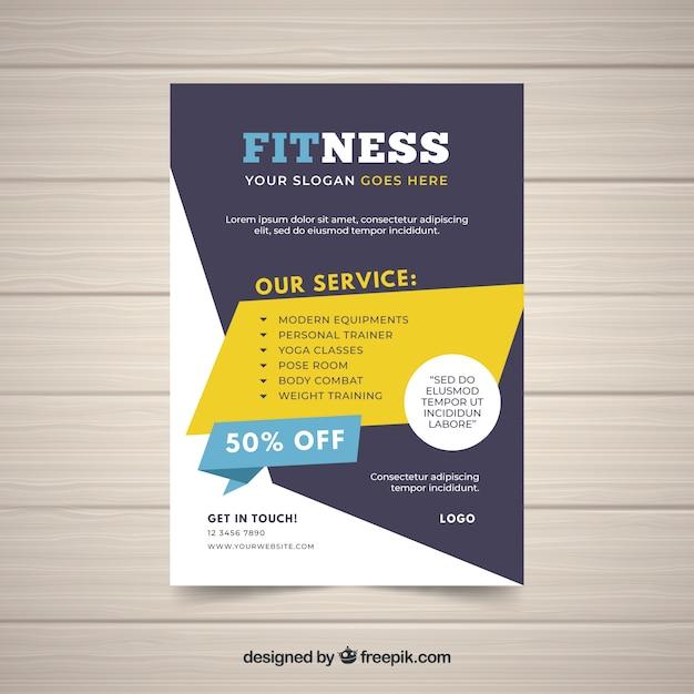 Plantilla de flyer creativo de gimnasio | Descargar Vectores gratis