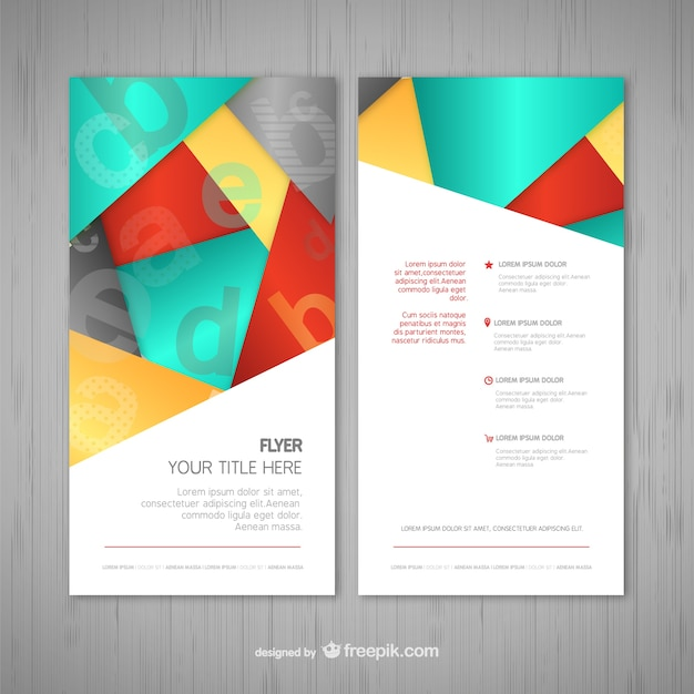 Plantilla de flyer | Descargar Vectores gratis