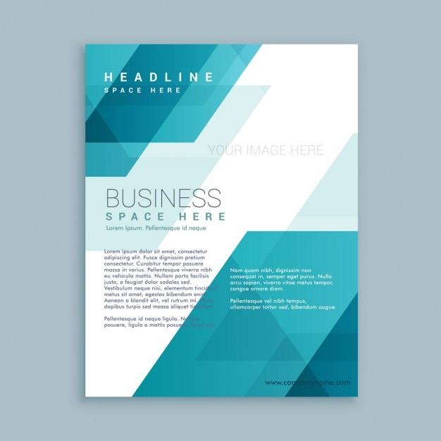 Plantilla de folleto corporativo con formas poligonales Vector Gratis