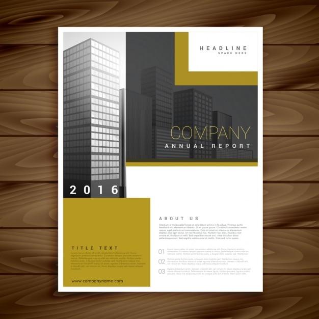 Plantilla de folleto de informe anual para su empresa | Descargar ...