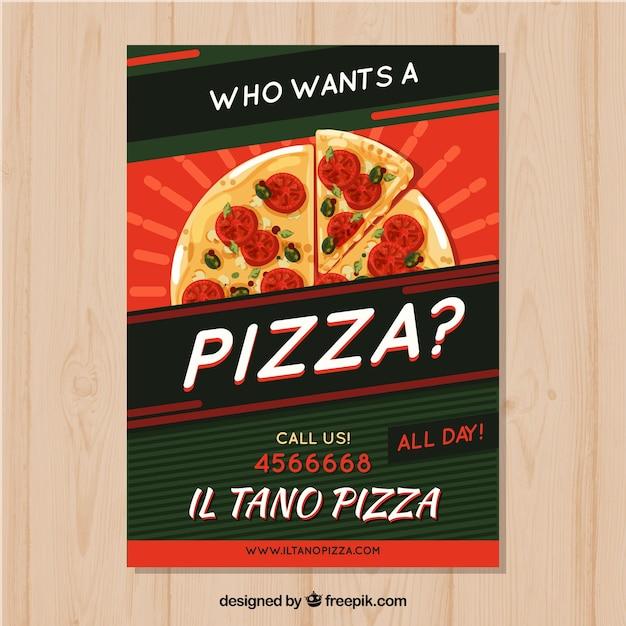 Plantilla de folleto de pizza | Descargar Vectores gratis