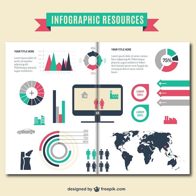 Plantilla de folleto infográfico Vector Gratis