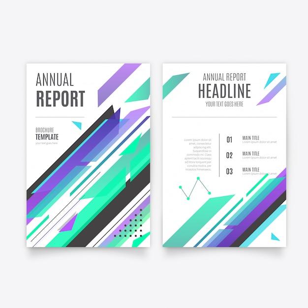 Plantilla de folleto informe anual azul moderno | Descargar Vectores ...