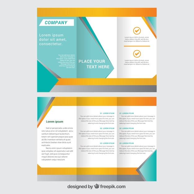 Plantilla de folleto tr ptico descargar vectores gratis for 4 sided brochure template
