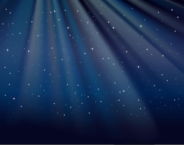 Plantilla De Fondo Con Estrellas En El Cielo