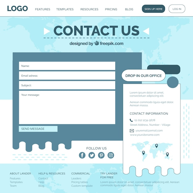 Plantilla de formulario web   Descargar Vectores gratis