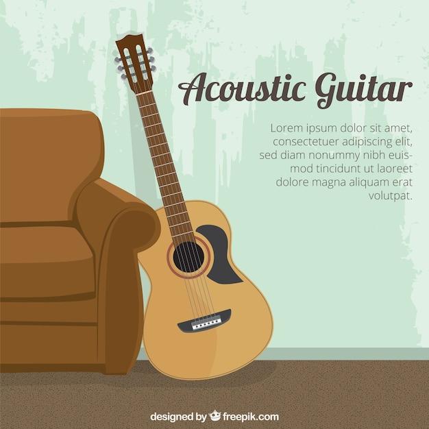 Plantilla de guitarra acústica | Descargar Vectores Premium