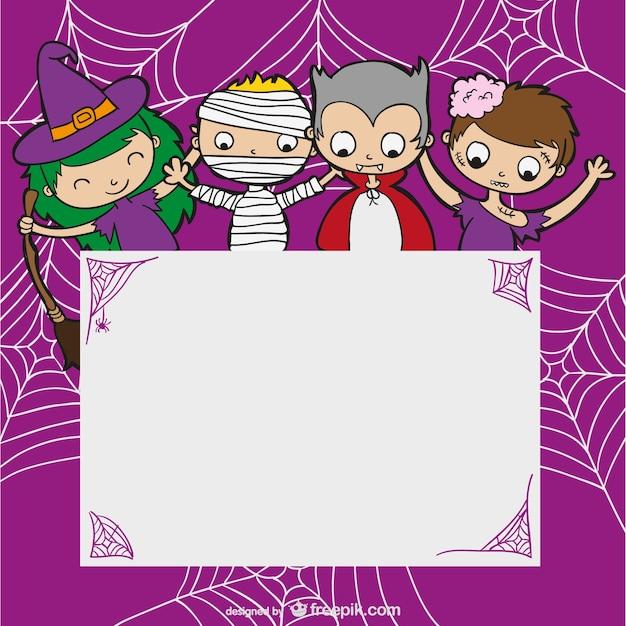 Plantilla de halloween con niños | Descargar Vectores gratis