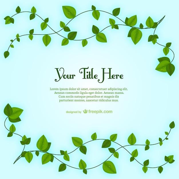 Plantilla de hojas de planta | Descargar Vectores gratis