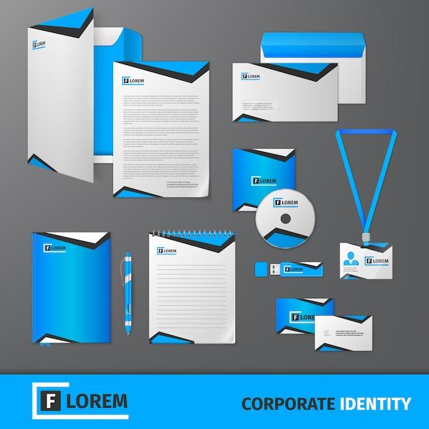Plantilla de identidad corporativa | Descargar Vectores Premium