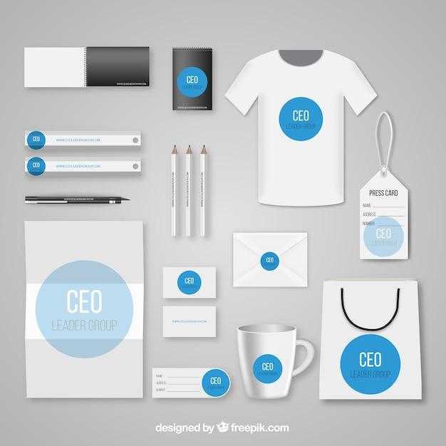 Plantilla de identidad corporativa | Descargar Vectores gratis
