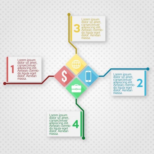 Plantilla de infografía con cuadros | Descargar Vectores gratis