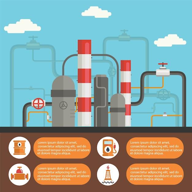 Top Tier Detergent Gasoline >> Plantilla de infografía de planta petrolífera | Descargar ...