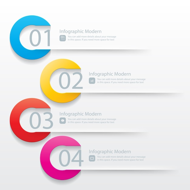 Plantilla de Infografía Vector Gratis