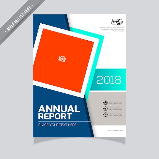 Plantilla de informe anual moderno | Descargar Vectores gratis