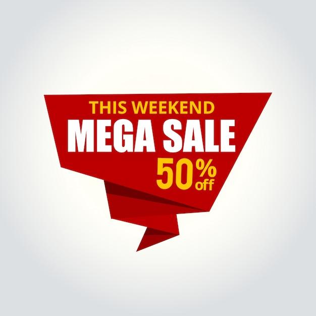 Plantilla de insignia de vector de etiqueta de venta 50 for Best affordable online shopping