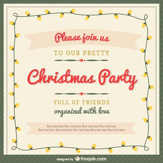 Plantilla de invitación de la fiesta de navidad con adornos ...