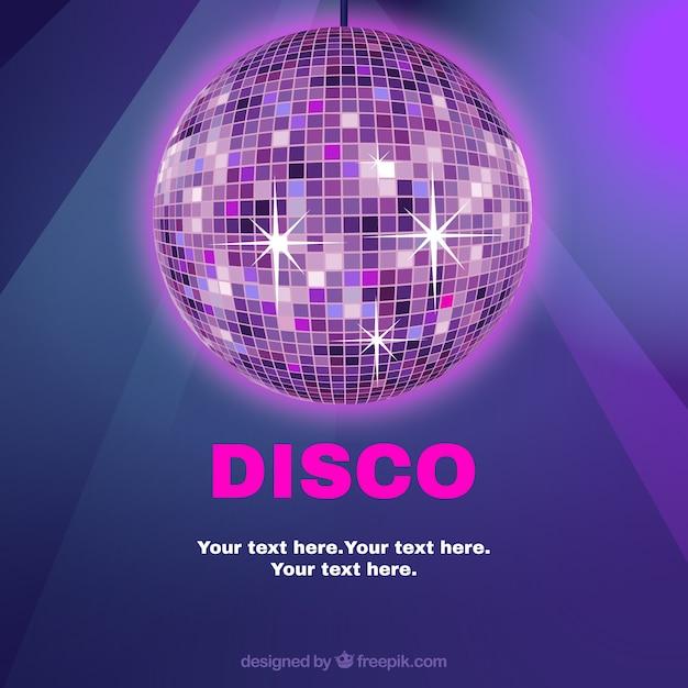 Plantilla de la bola disco descargar vectores gratis - Bola de discoteca de colores ...